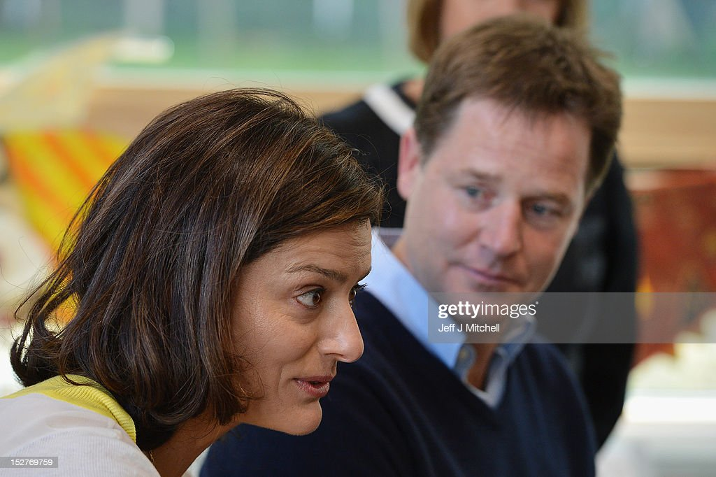 The Deputy Prime Minister And His Wife Visit A Local School : News Photo