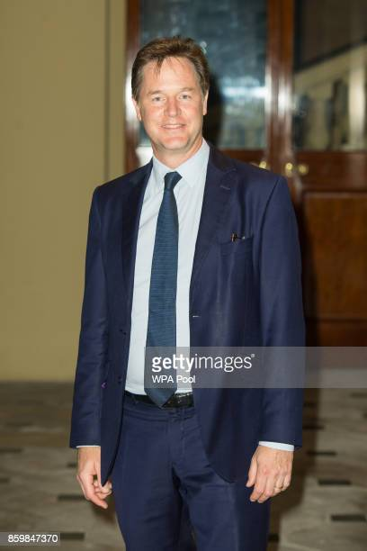 Nick Clegg arrives at the Grand Entrance at Buckingham Palace London to attend a reception on World Mental Health Day to celebrate the contribution...
