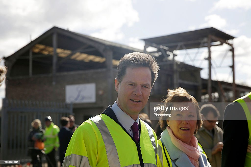 U.K. Liberal Democrat Leader Nick Clegg Visits Watford Health Campus : News Photo