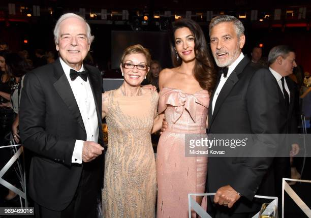 Nick Clooney Nina Bruce Warren Amal Clooney and George Clooney attend the American Film Institute's 46th Life Achievement Award Gala Tribute to...