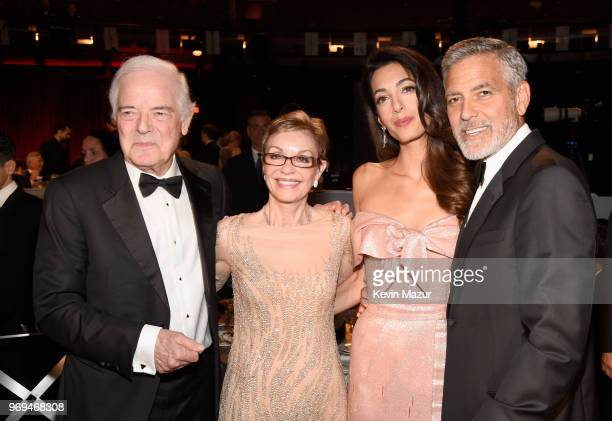 Nick Clooney Nina Bruce Warren Amal Clooney and honoree George Clooney attend the American Film Institute's 46th Life Achievement Award Gala Tribute...
