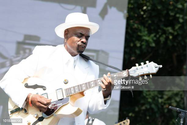Nick Colionne performs at the 31st Annual Long Beach Jazz Festival at Rainbow Lagoon Park on August 11 2018 in Long Beach California