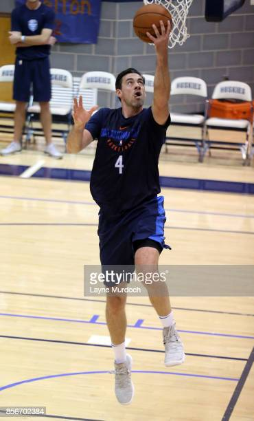 Nick Collison of the Oklahoma City Thunder and his team hold an open Blue/White scrimmage for fans on October 1 2017 at Edmond North High School in...