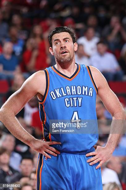 Nick Collison of the Oklahoma City Thunder during the game against the Portland Trail Blazers on April 6 2016 at Moda Center in Portland Oregon NOTE...