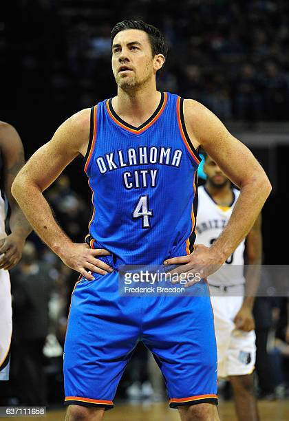 Nick Collison of the Oklahoma City Thunder plays against the Memphis Grizzlies at FedExForum on December 29 2016 in Memphis Tennessee