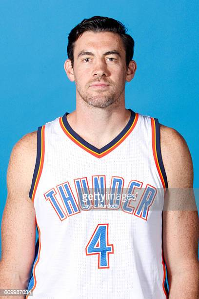 Nick Collison of the Oklahoma City Thunder poses for a head shot during 2016 NBA Media Day on September 23 2016 at the Chesapeake Energy Arena in...