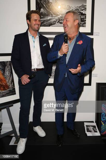 Nick Compton and David Yarrow attends a private view of 'Beyond The Boundary' the first solo exhibition by former England cricketer and photographer...