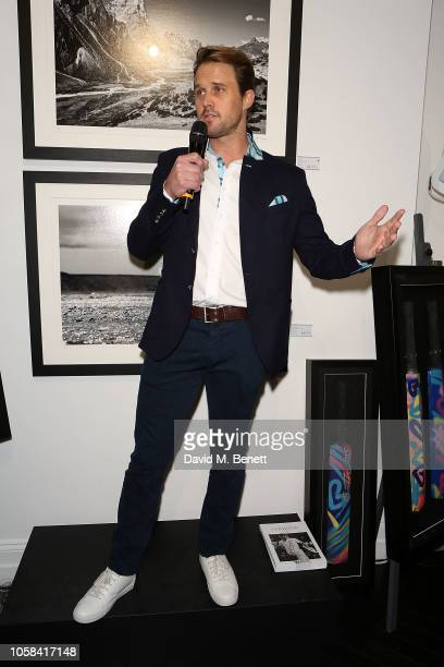 Nick Compton attends a private view of 'Beyond The Boundary' the first solo exhibition by former England cricketer and photographer Nick Compton at...
