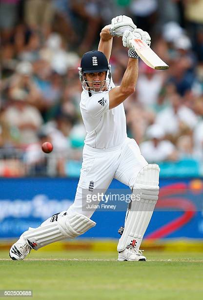 Nick Compton of England bats during day one of the 1st Test between South Africa and England at Sahara Stadium Kingsmead on December 26 2015 in...