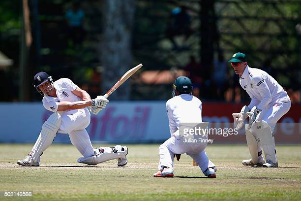 Nick Compton of England bats during day two of the tour match between South Africa A and England at City Oval on December 21 2015 in Pietermaritzburg...