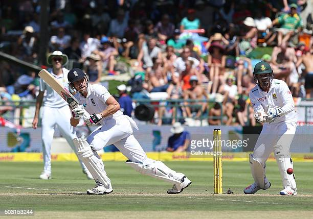 Nick Compton of England during day 1 of the 2nd Test match between South Africa and England at PPC Newlands on January 02 2016 in Cape Town South...