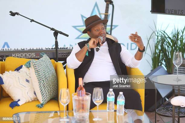 Nick Cooper attends the KALEIDOSCOPE LAWN TALKS presented by Delta Air Lines Cannabinoid Water on April 13 2017 in La Quinta California