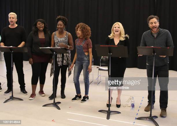 Nick Cordero Amma Osei Amber Iman Allison Semmes Megan Hilty and Josh Radnor In Rehearsal with the Kennedy Center production of 'Little Shop of...