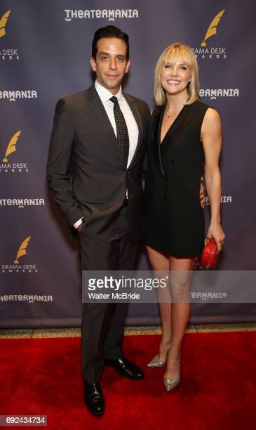 Nick Cordero and girlfrioend attend the 2017 Drama Desk Awards at Town Hall on June 4 2017 in New York City