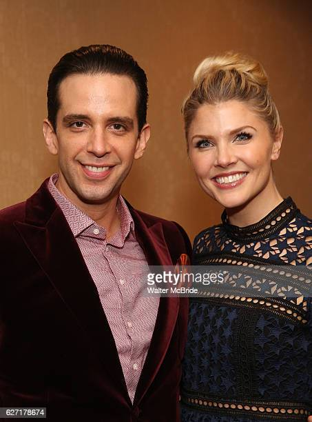 Nick Cordero and Amanda Kloots attend the Broadway Opening Night After Party for 'A Bronx Tale' at The Marriot Marquis Hotel on December 1 2016 in...