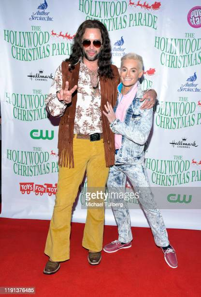 Nick Cordero and Frankie Grande attend the 88th annual Hollywood Christmas Parade on December 01 2019 in Hollywood California