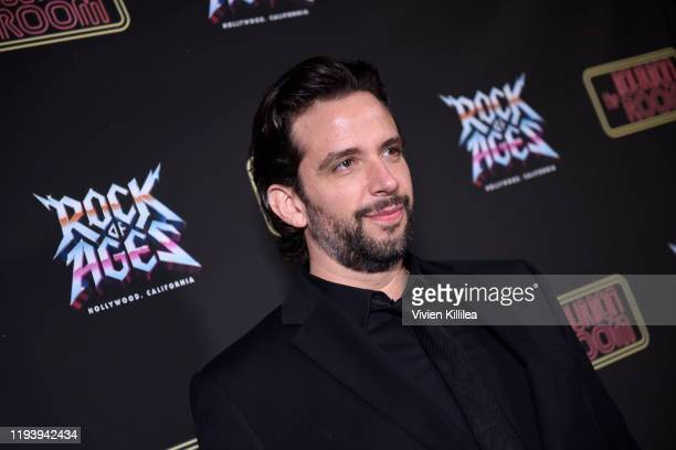 Nick Cordero attends Opening Night Of Rock Of Ages Hollywood At The Bourbon Room at The Bourbon Room on January 15 2020 in Hollywood California