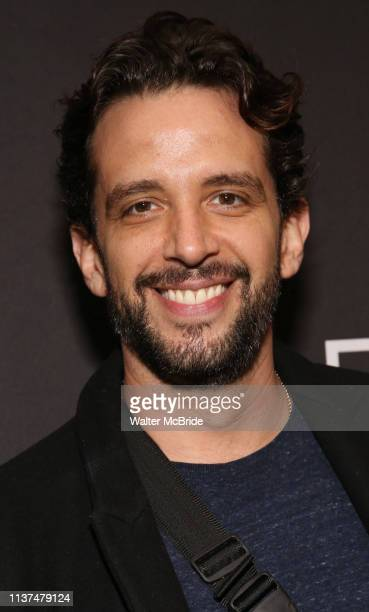 Nick Cordero attends the Broadway Opening Night Arrivals for Burn This at the Hudson Theatre on April 15 2019 in New York City