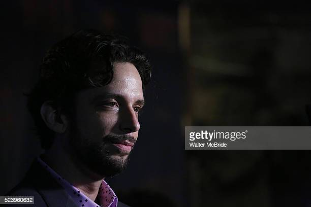 Nick Cordero attends the Broadway Opening Night performance After Party for 'Waitress' at Bryant Park Grill on April 24 2016 in New York City