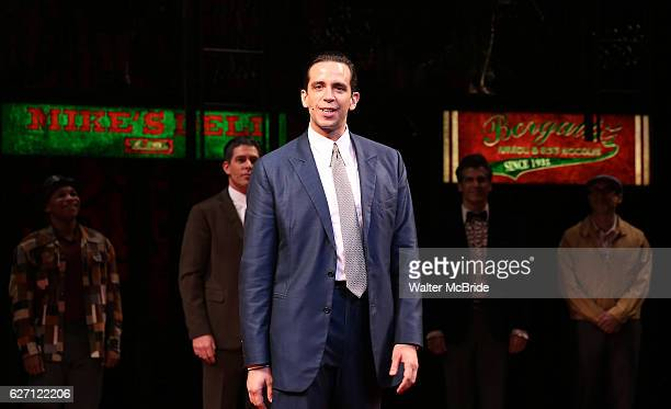 Nick Cordero during the Broadway Opening Night Perfomance Curtain Call for 'A Bronx Tale' at The Longacre on December 1 2016 in New York City