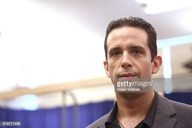 Nick Cordero during the open press rehearsal for A Bronx Tale The New Musical at the New 42nd Street Studios on October 21 2016 in New York City