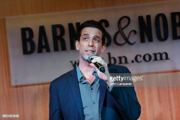 Nick Cordero from the cast and creators of Broadway's A Bronx Tale performs during the signing of copies of the shows soundtrack at Barnes Noble 86th...