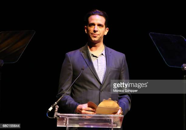 Nick Cordero speaks on stage during 32nd Annual Lucille Lortel Awards at NYU Skirball Center on May 7 2017 in New York City