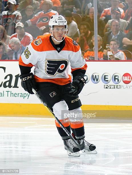 Nick Cousins of the Philadelphia Flyers skates against the Anaheim Ducks on October 20 2016 at the Wells Fargo Center in Philadelphia Pennsylvania