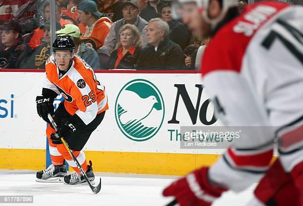 Nick Cousins of the Philadelphia Flyers skates against the Carolina Hurricanes on October 22 2016 at the Wells Fargo Center in Philadelphia...