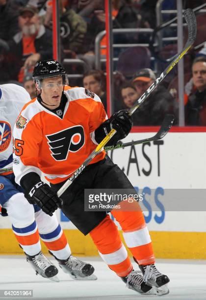Nick Cousins of the Philadelphia Flyers skates against the New York Islanders on February 9 2017 at the Wells Fargo Center in Philadelphia...