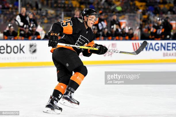 Nick Cousins of the Philadelphia Flyers skates against the Pittsburgh Penguins during the 2017 Coors Light NHL Stadium Series at Heinz Field on...