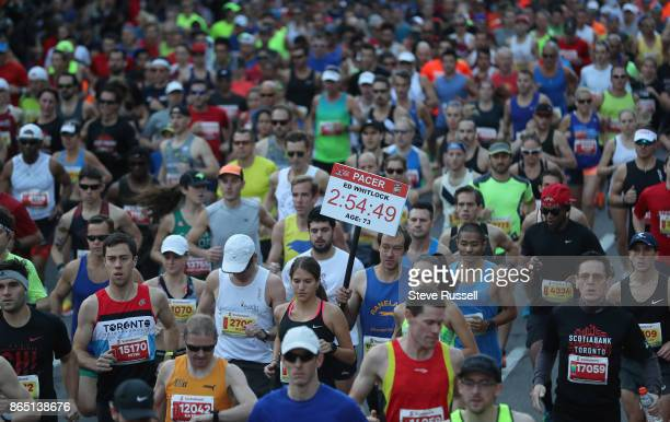 TORONTO ON OCTOBER 22 Nick Croker ran the race at Ed Whitlock's age world record at 73 as a tribute to the runner who passed away earlier this year...