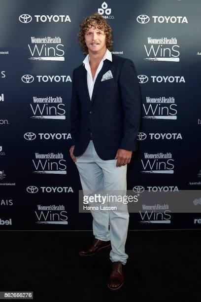 Nick Cummins arrives ahead of Women's Health Women In Sport Awards on October 18 2017 in Sydney Australia