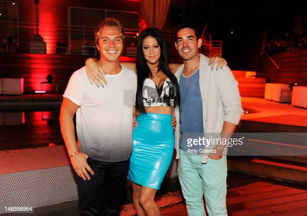 Nick D'Annunzio and Allison Melnick attend the celebration of LA Socialite and Reality TV Personality Allison Melnick's Birthday hosted by elit Stoli...
