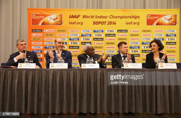 Nick Davies IAAF Deputy General Secretary Essar Gabriel IAAF General Secretary Lamine Diack IAAF President Jacek Karnowski LOC President and...