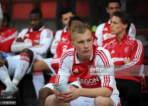 Nick de Bondt of Ajax looks on dejected after losing on penalties during the NextGen Series Final between Ajax U19 and Inter Milan U19 at Matchroom...
