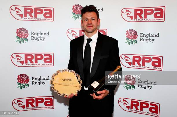 Nick de Luca poses with his Personal Development Programme award during the RPA Players' Awards 2017 at Battersea Evolution on May 10 2017 in London...