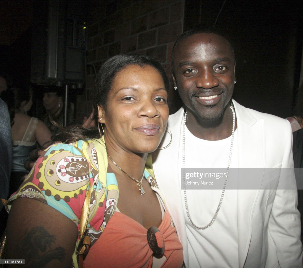 Nick Dee and Akon during Phat Farm Party for Magic 06 - February 22, 2006 at Palm Hotel Hard wood Suite in Las Vegas, Nerevada, United States.