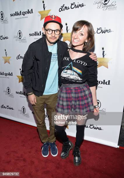 Nick Deine and Allisyn Arm attend the CATstravaganza fundraiser and celebrity musical featuring Hamilton's Cats in support of the homeless animals of...