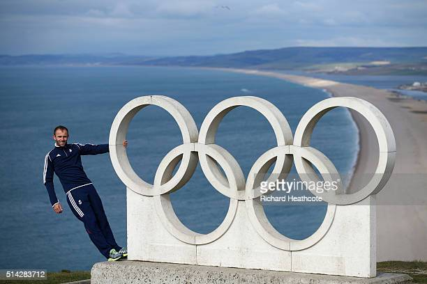 Nick Dempsey of Team GB poses during a Team GB Sailing Announcement for the Rio 2016 Olympic Games on March 7 2016 in Weymouth England