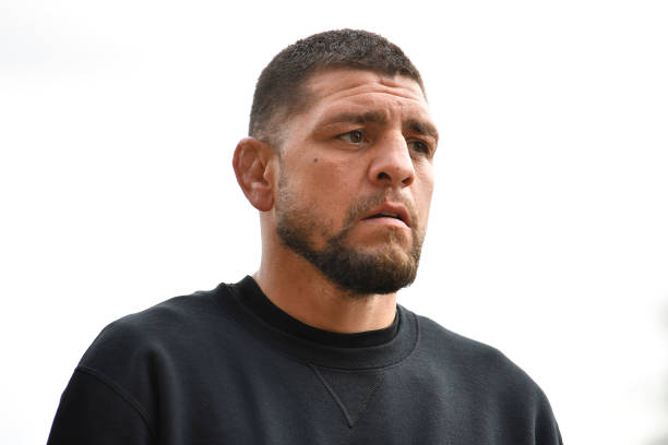 Nick Diaz arrives to the UFC 261 Weigh-In at at VyStar Veterans Memorial Arena on April 23, 2021 in Jacksonville, Florida.