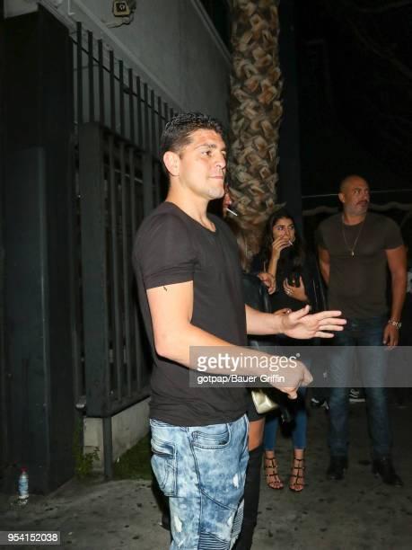 Nick Diaz is seen on May 03 2018 in Los Angeles California