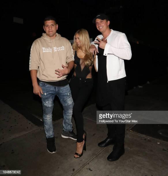 Nick Diaz is seen on October 9 2018 in Los Angeles CA