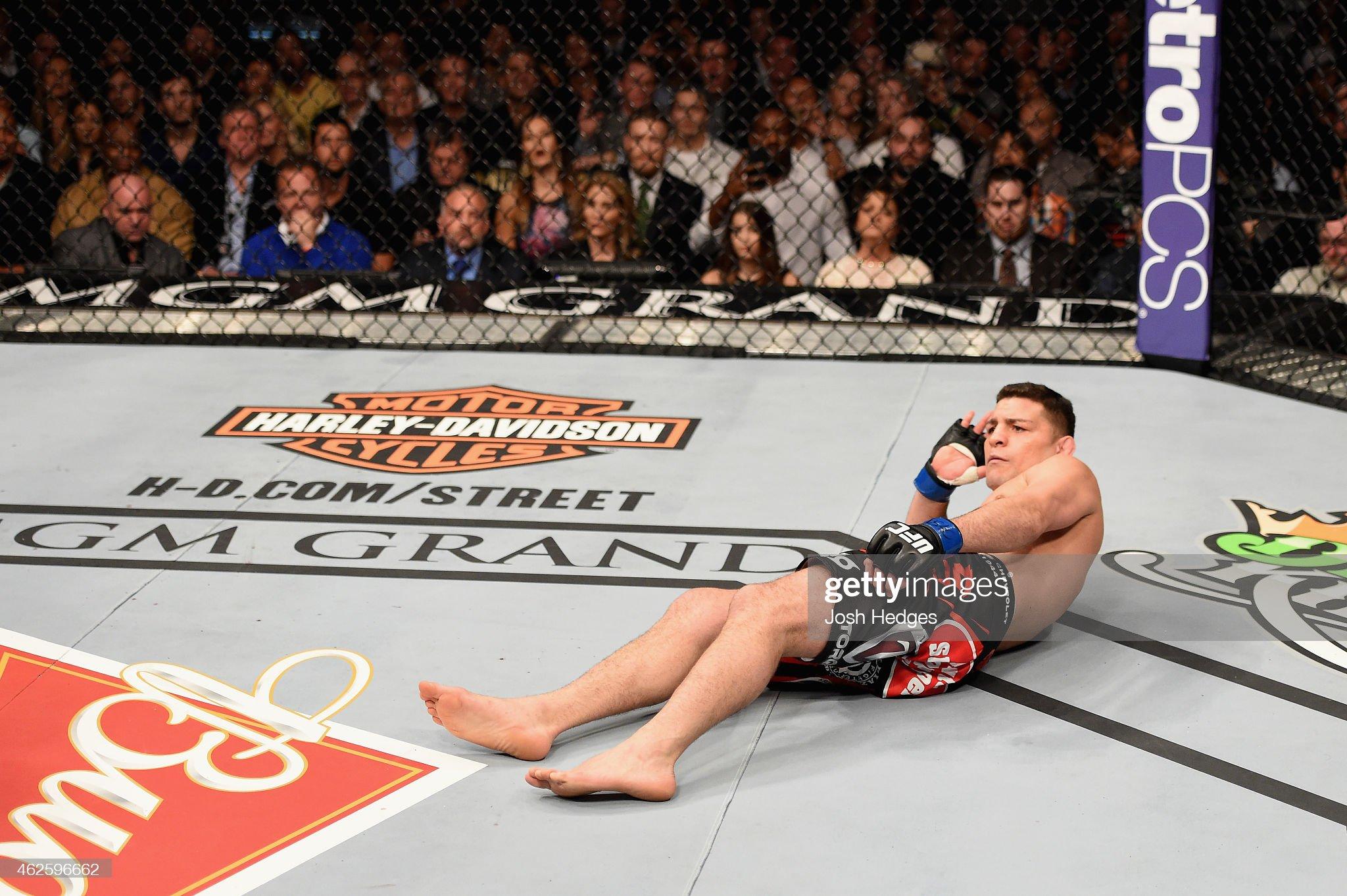 UFC 183: Silva v Diaz : News Photo