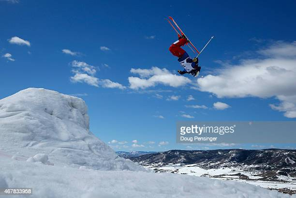 Nick Didonato competes during qualifying for the men's moguls at the 2015 U.S. Freestyle Ski Championships at the Steamboat Ski Resort on March 27,...