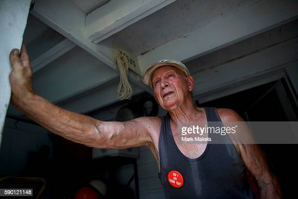 Nick Dindash who supports Donald Trump poses for a portrait at his home on August 13 2016 in Windber Pennsylvania 'God's in control He has that...
