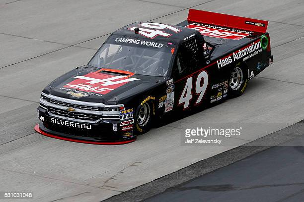 Nick Drake driver of the Haas Automation Chevrolet practices for the NASCAR Camping World Truck Series at Dover International Speedway on May 12 2016...