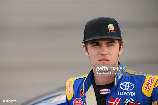 Nick Drake driver of the NAPA Auto Parts Toyota Camry on the grid during qualifying for the NASCAR KN Pro Series Casey's General Stores 150 at Iowa...