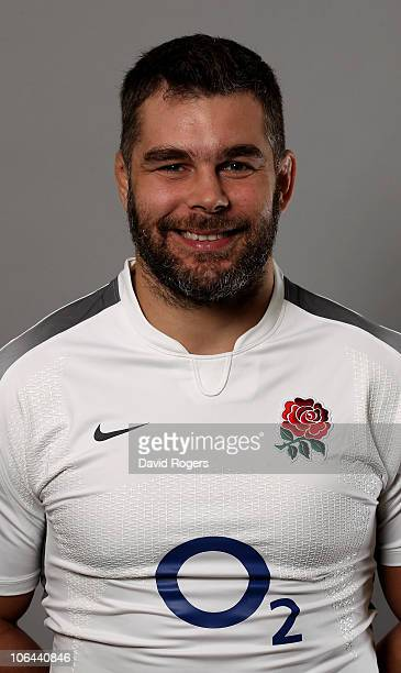 Nick Easter of England poses for a portrait at the Pennyhill Park Hotel on October 25 2010 in Bagshot England