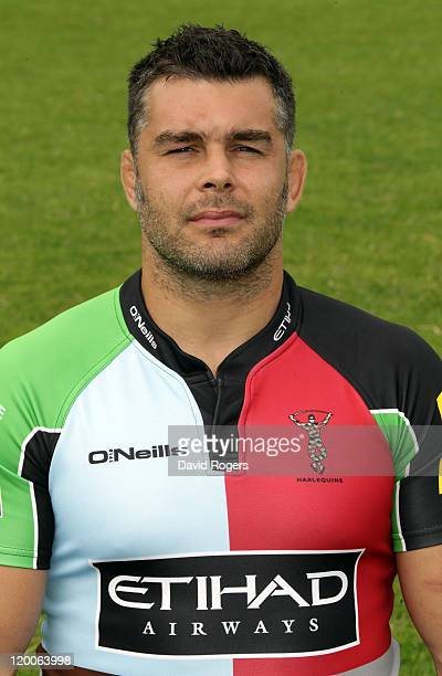 Nick Easter of Harlequins poses for a portrait at the photocall held at Surrey University on July 29 2011 in Guildford England